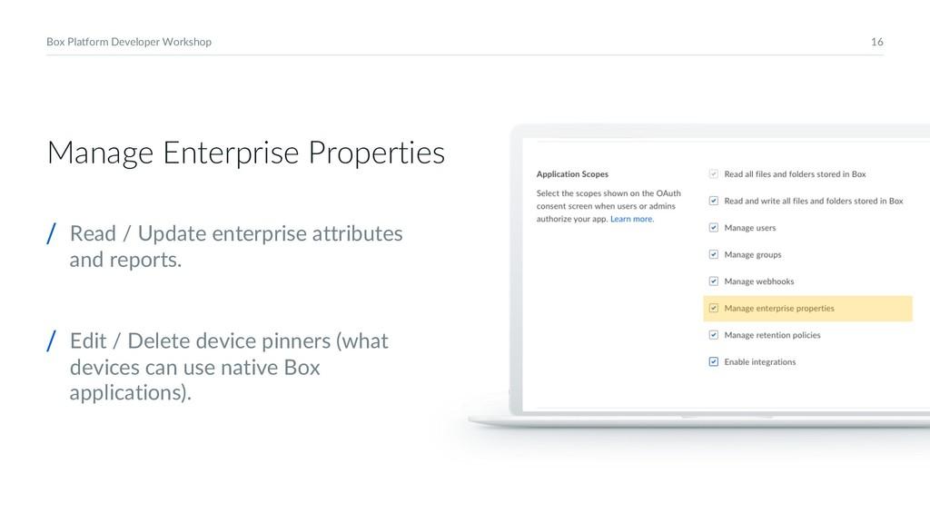 16 Box Platform Developer Workshop Manage Enter...
