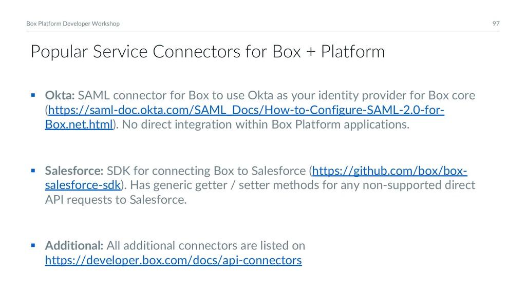 97 Box Platform Developer Workshop Popular Serv...
