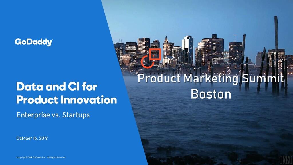 Product Marketing Summit Boston