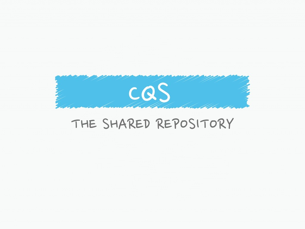 CQS THE SHARED REPOSITORY