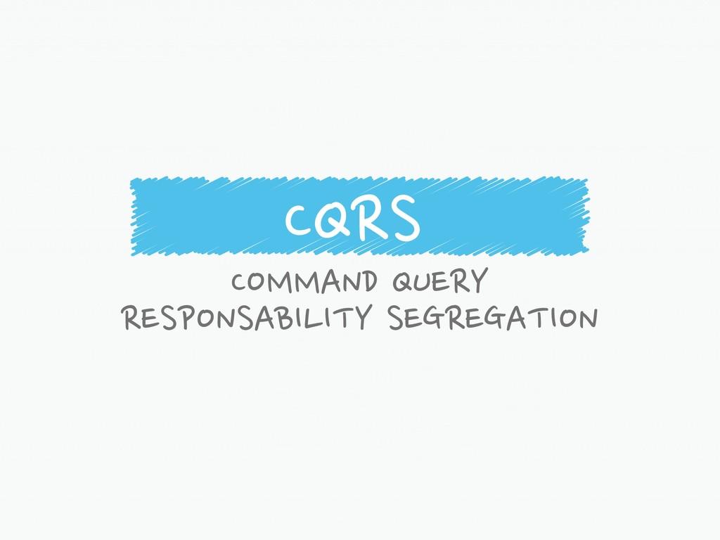 CQRS COMMAND QUERY RESPONSABILITY SEGREGATION