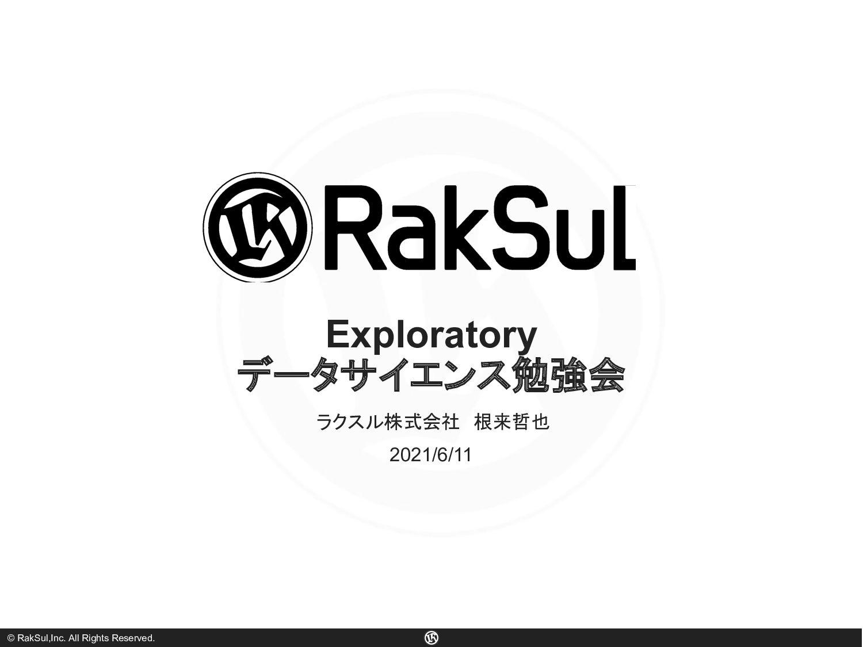 © RakSul,Inc. All Rights Reserved. Exploratory ...