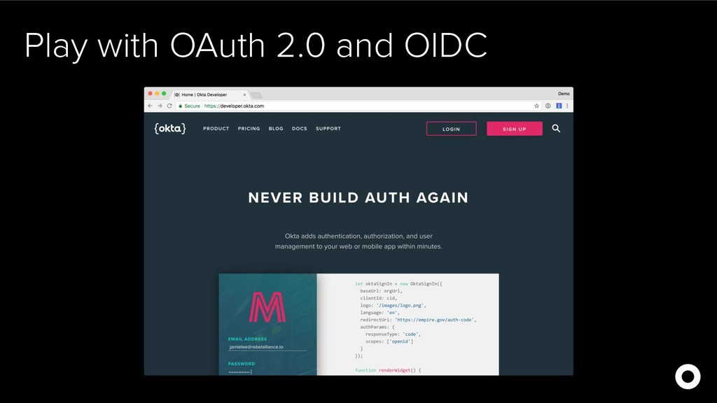 Play with OAuth 2.0 and OIDC
