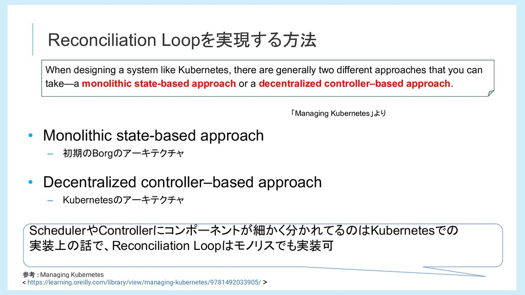 Reconciliation Loopを実現する方法 When designing a sys...