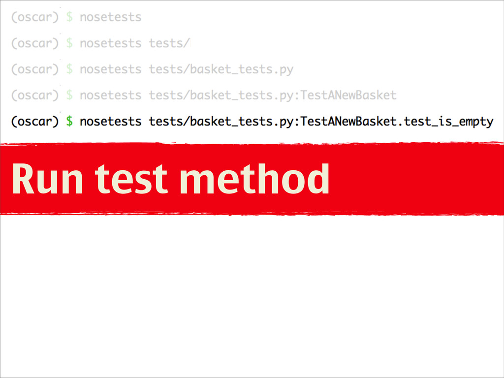 Run test method