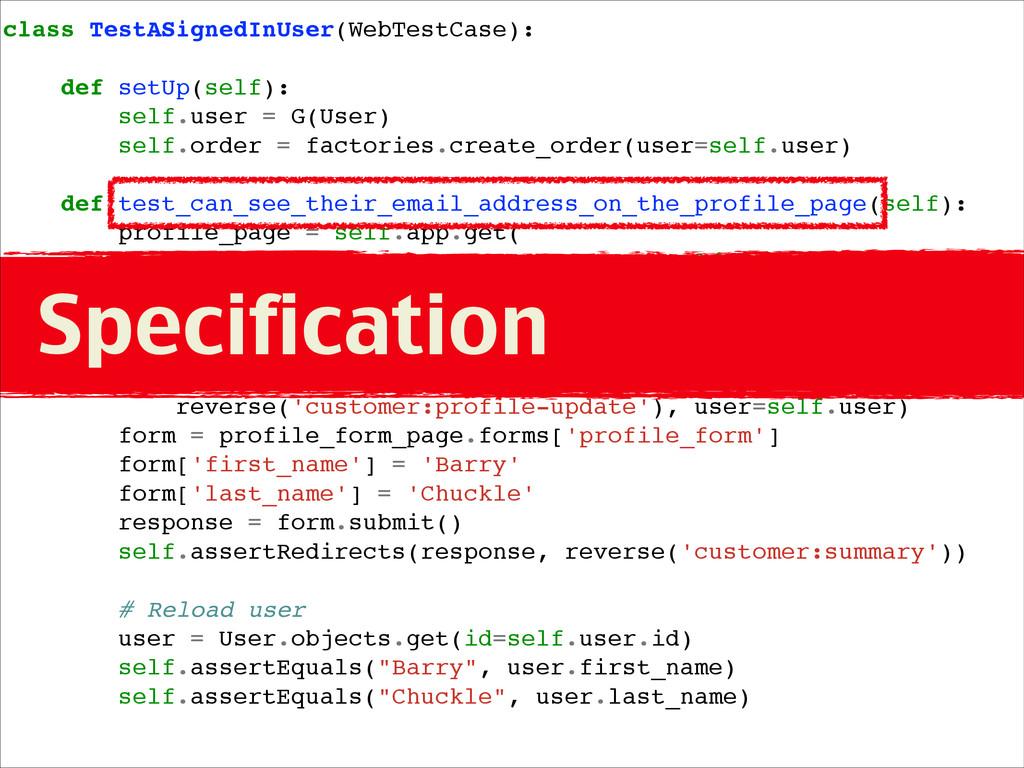 class TestASignedInUser(WebTestCase):! ! def se...