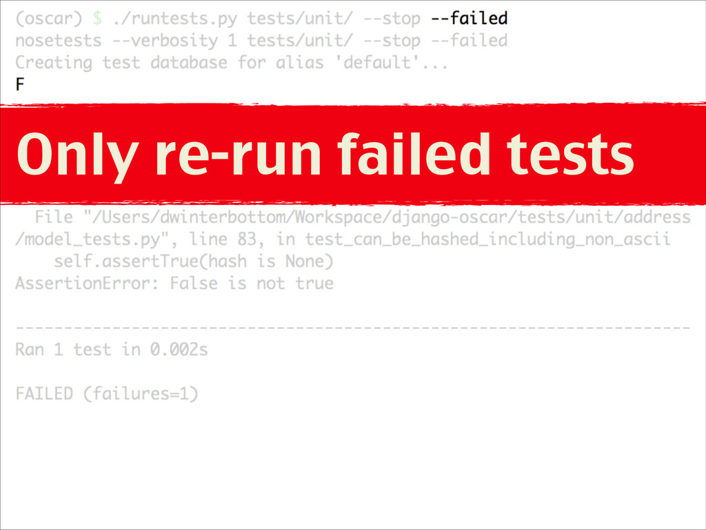 Only re-run failed tests