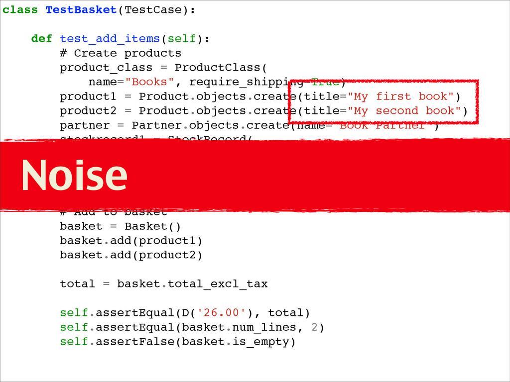 class TestBasket(TestCase):! ! def test_add_ite...
