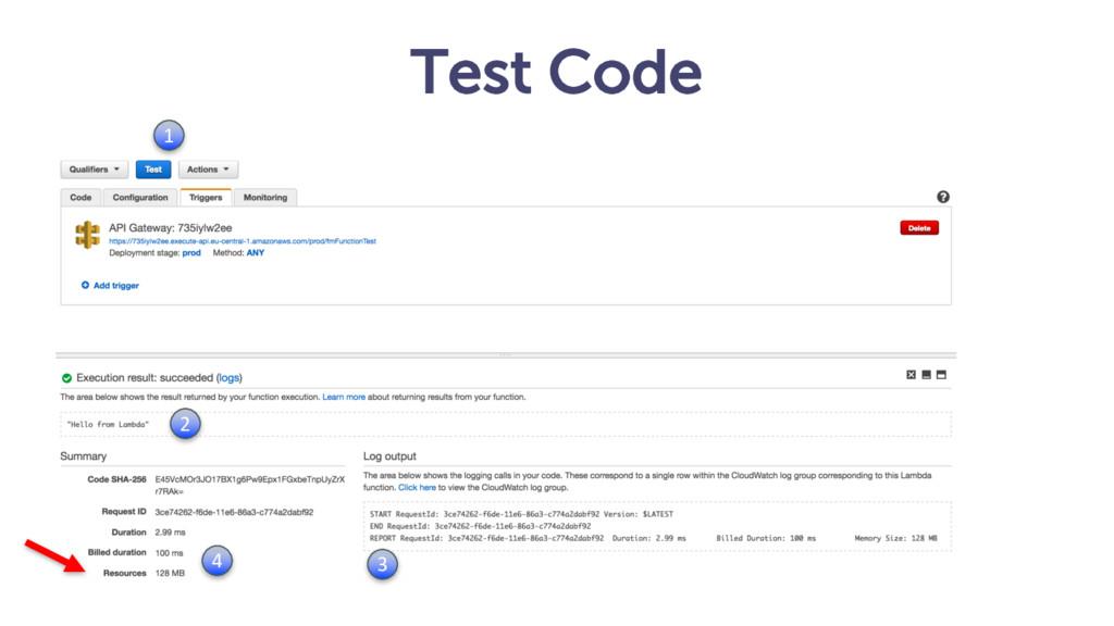 Test Code 1 2 3 4