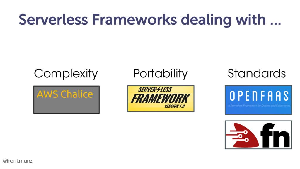 Serverless Frameworks dealing with … @frankmunz...