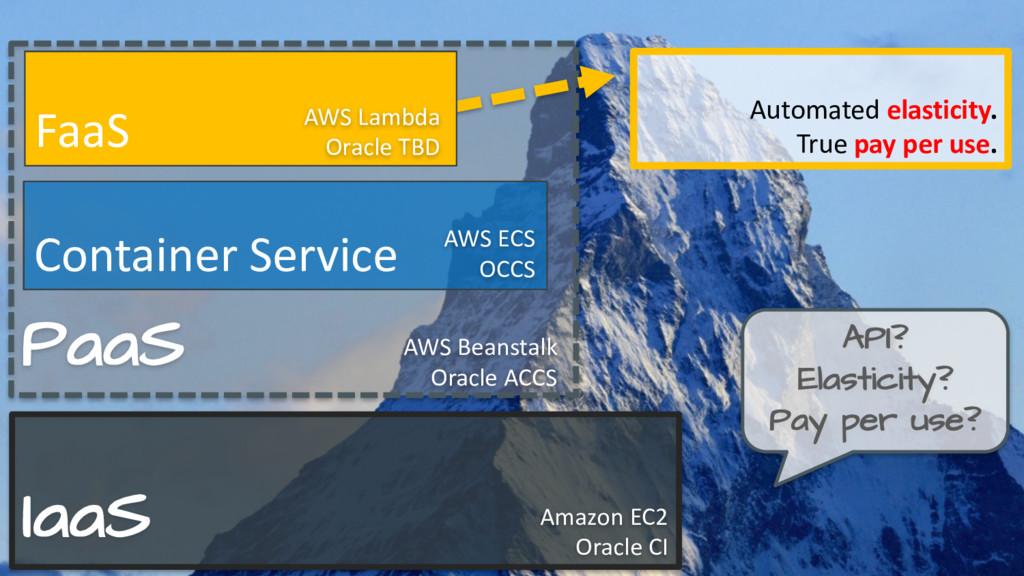 PaaS IaaS Amazon EC2 Oracle CI AWS Beanstalk Or...