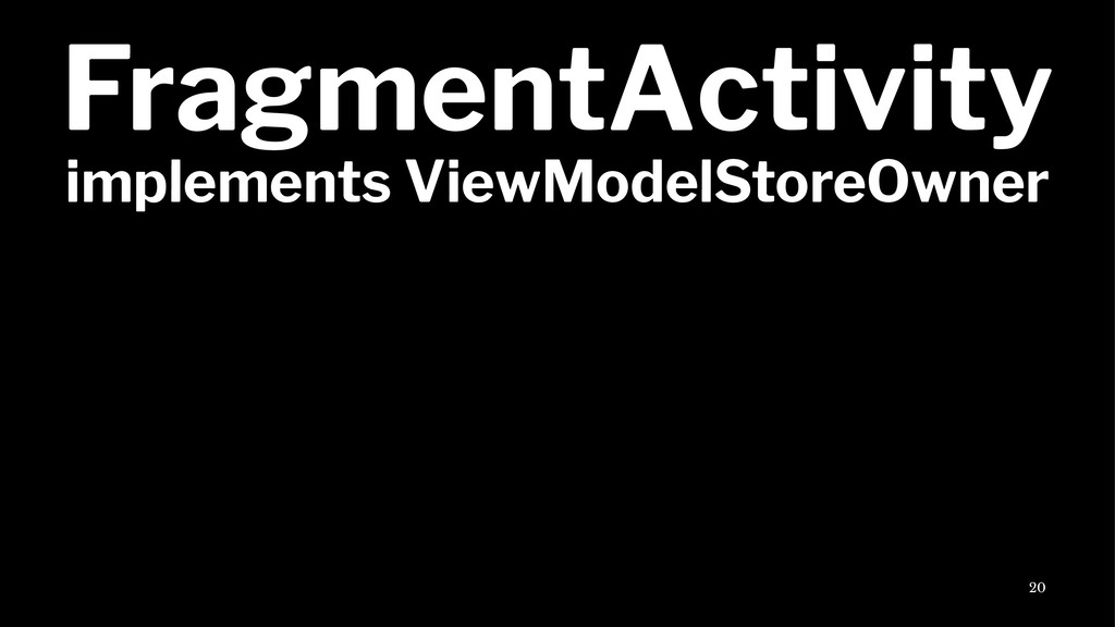 FragmentActivity implements ViewModelStoreOwner...