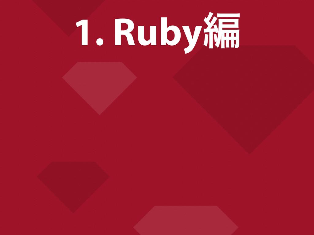 1. Rubyฤ
