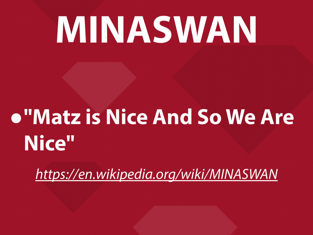 "MINASWAN •""Matz is Nice And So We Are Nice"" htt..."