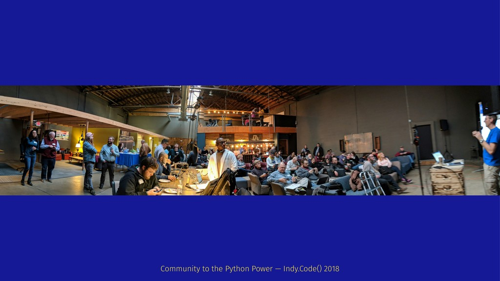Community to the Python Power — Indy.Code() 2018