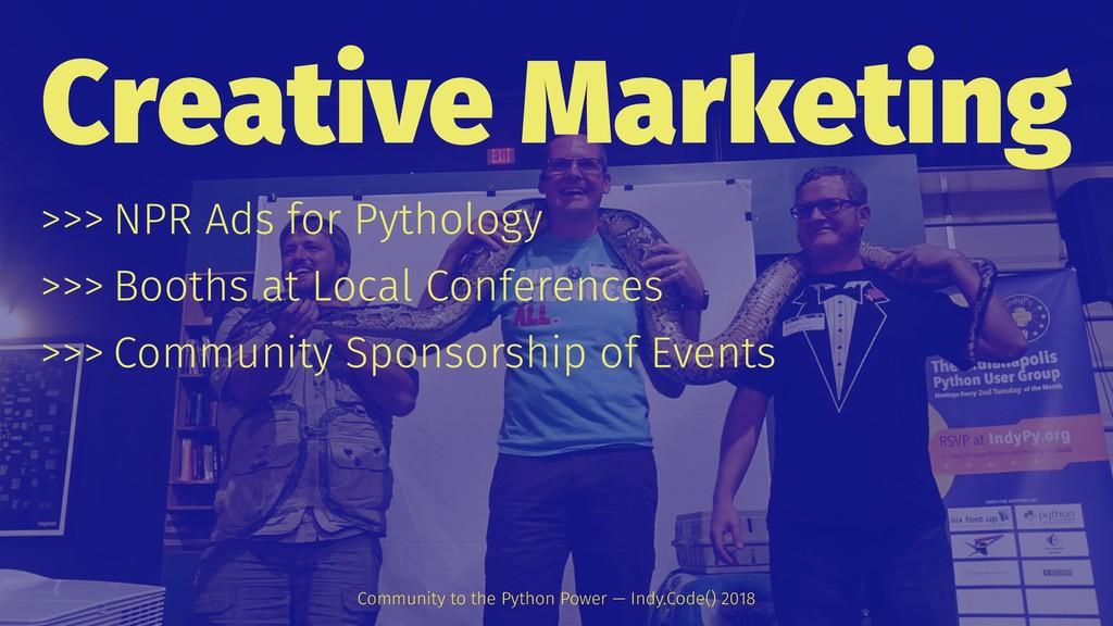 Creative Marketing >>> NPR Ads for Pythology >>...