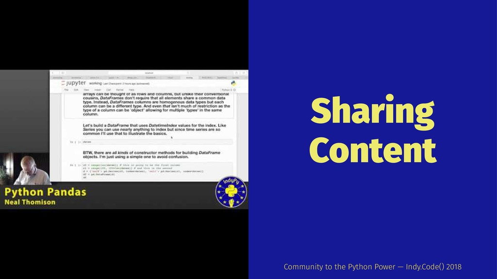 Sharing Content Community to the Python Power —...