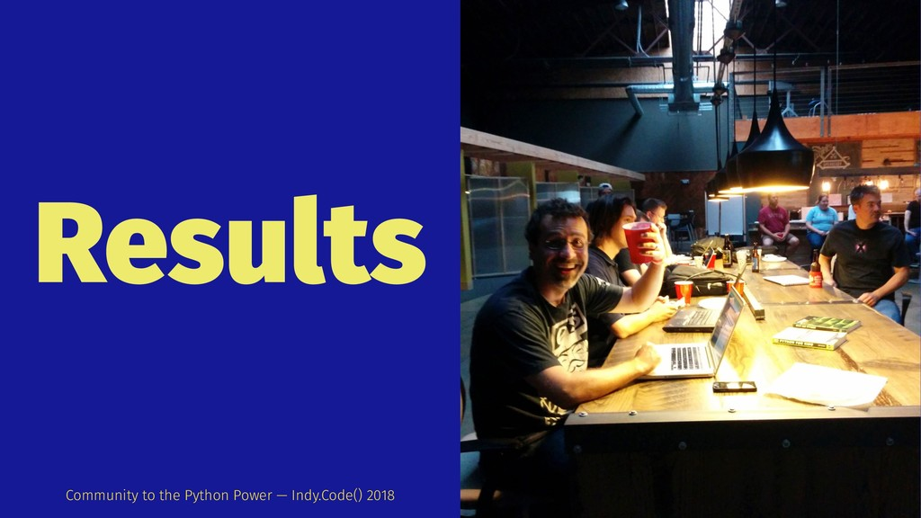Results Community to the Python Power — Indy.Co...