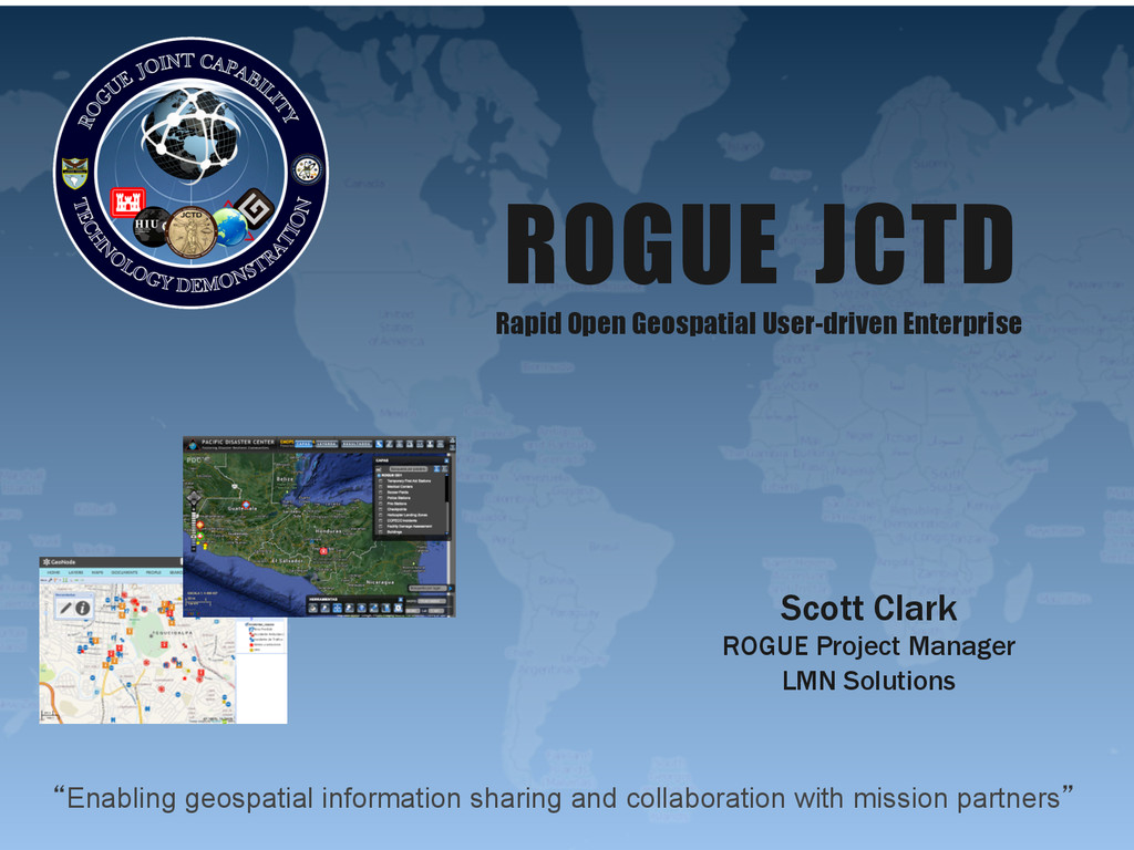 """""""Enabling geospatial information sharing and co..."""