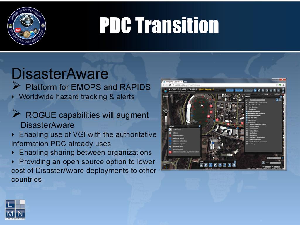 DisasterAware Ø Platform for EMOPS and RAPIDS...