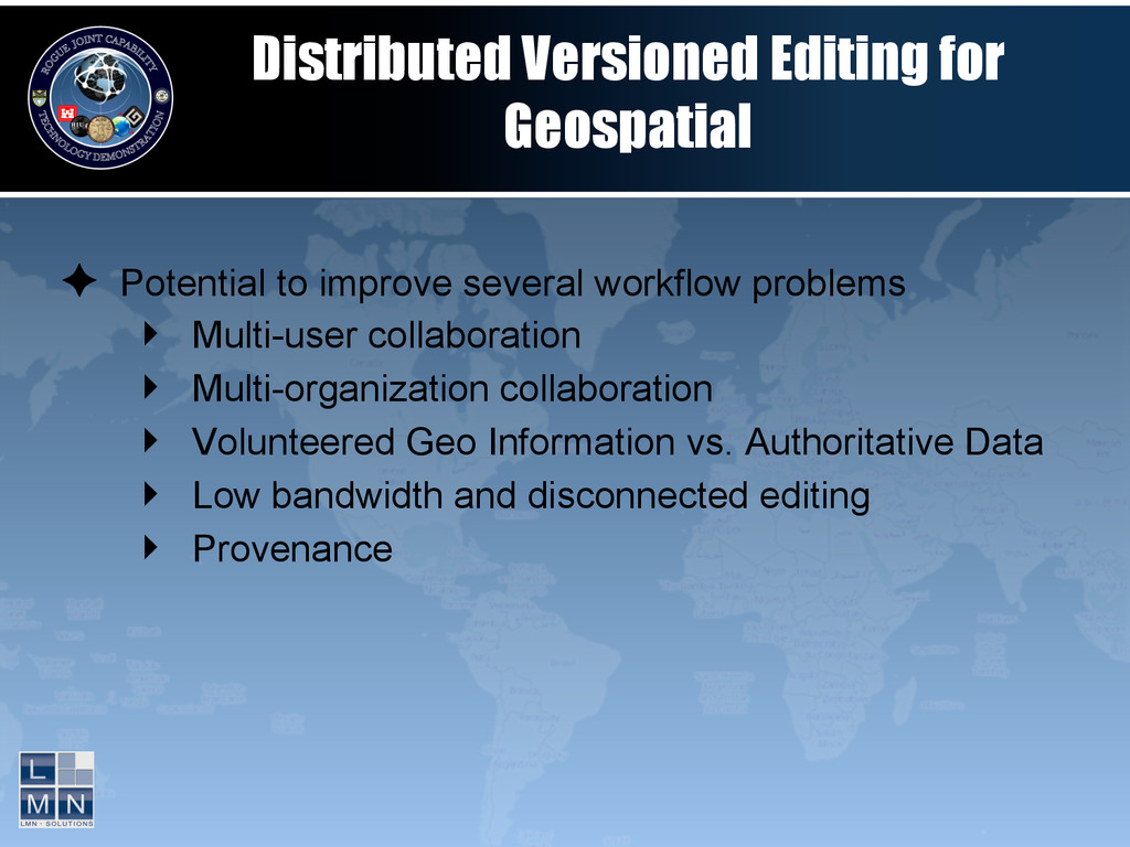Distributed Versioned Editing for Geospatial ✦...