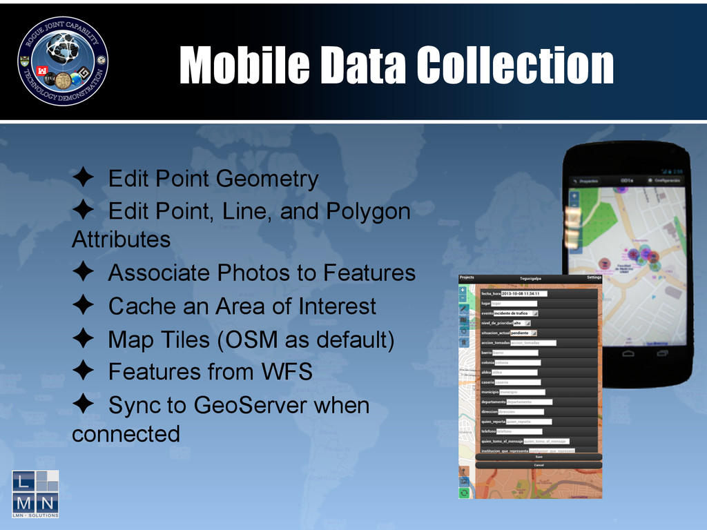 Mobile Data Collection ✦ Edit Point Geometry ✦...