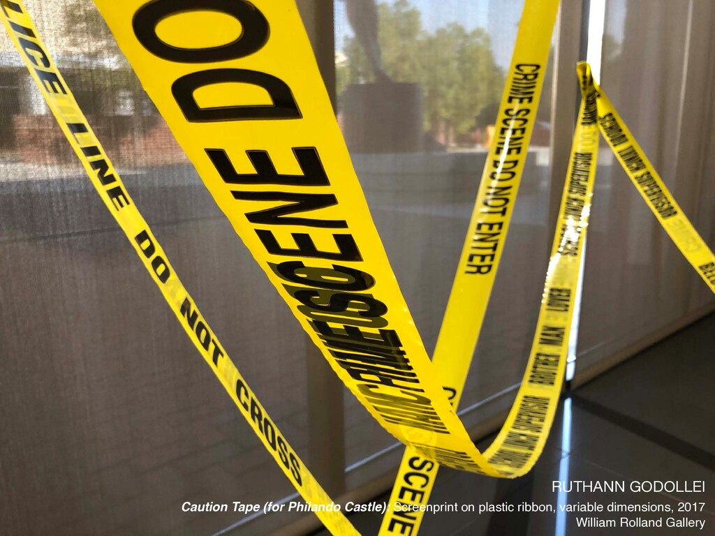 RUTHANN GODOLLEI  Caution Tape (for Philando Ca...