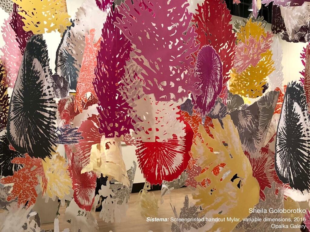 Sheila Goloborotko  Sistema: Screenprinted hand...