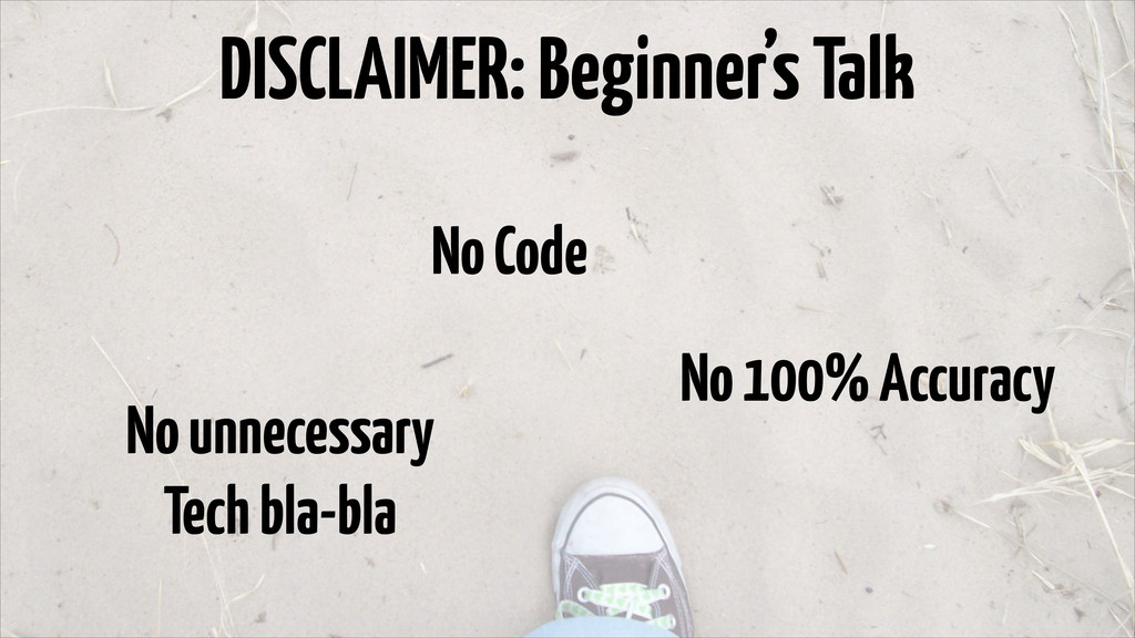 DISCLAIMER: Beginner's Talk No Code No 100% Acc...