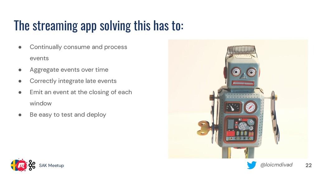 @loicmdivad SAK Meetup The streaming app solvin...