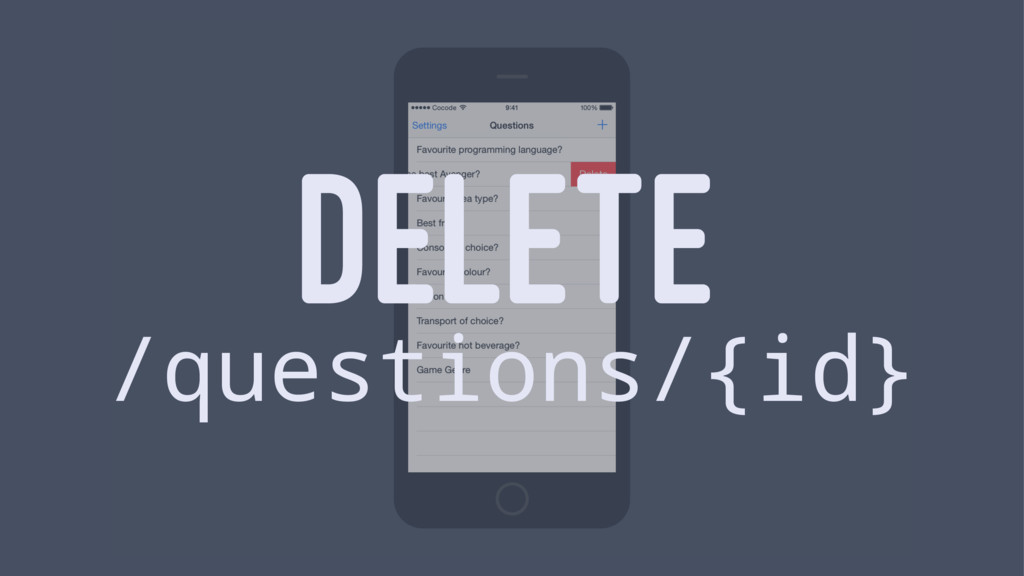 DELETE /questions/{id}