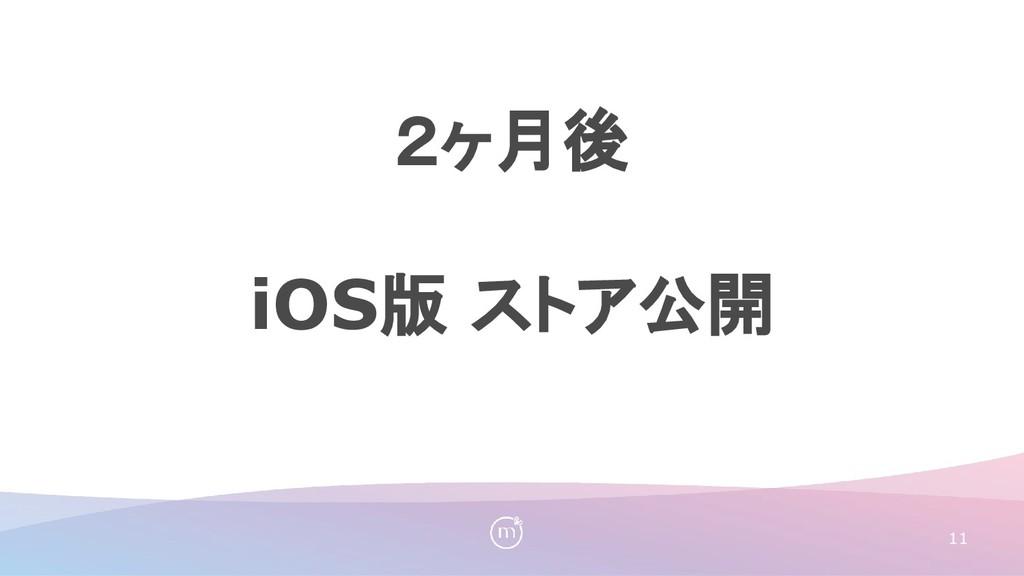 11 2ヶ月後 iOS版 ストア公開