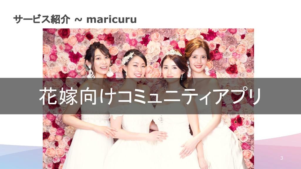 サービス紹介 ~ maricuru 3 花嫁向けコミュニティアプリ