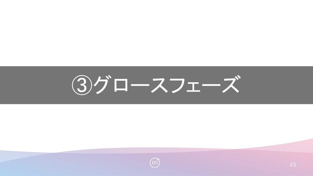 23 ③グロースフェーズ