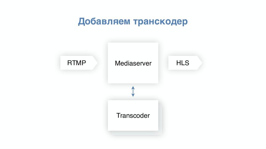 Добавляем транскодер Mediaserver Transcoder Tra...