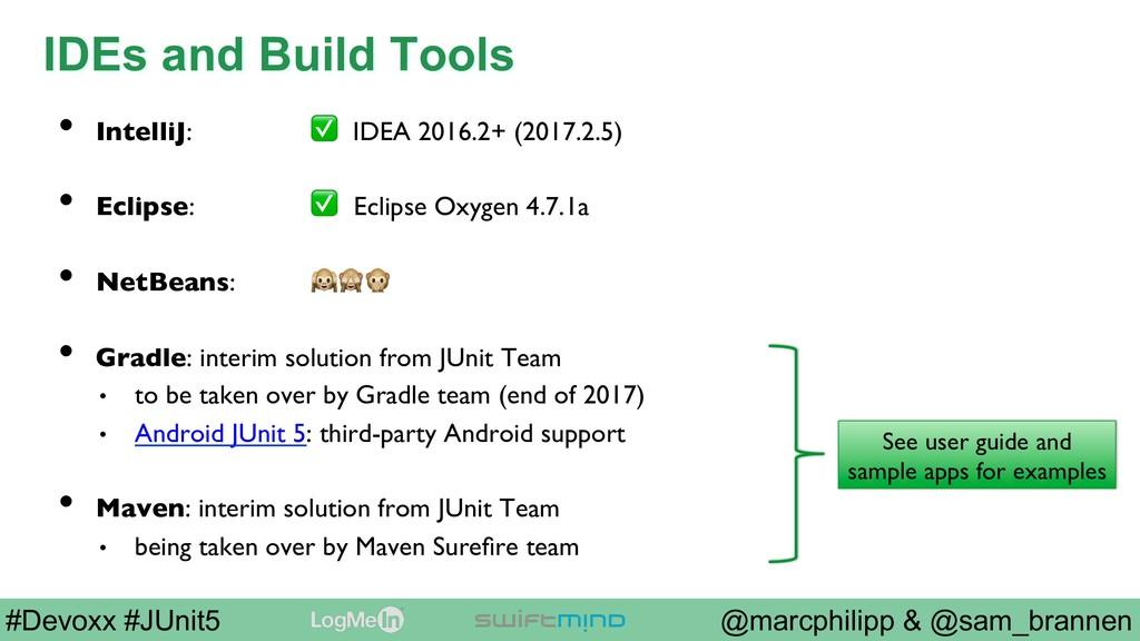 @marcphilipp & @sam_brannen #Devoxx #JUnit5 IDE...