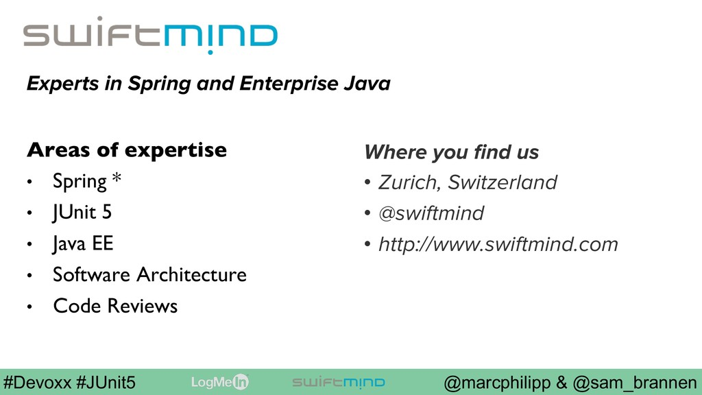 @marcphilipp & @sam_brannen #Devoxx #JUnit5 Exp...