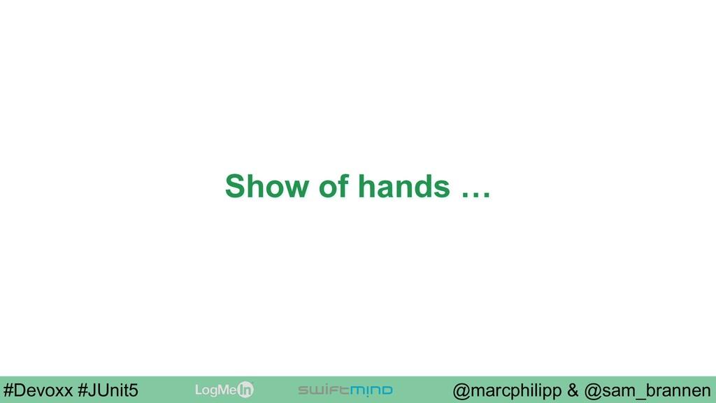 @marcphilipp & @sam_brannen #Devoxx #JUnit5 Sho...