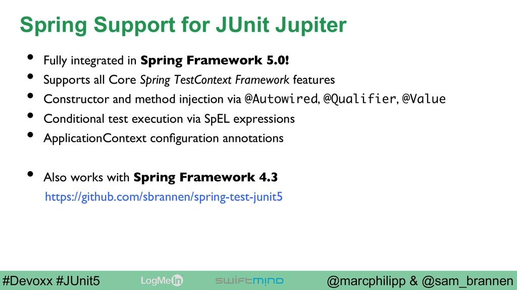 @marcphilipp & @sam_brannen #Devoxx #JUnit5 Spr...