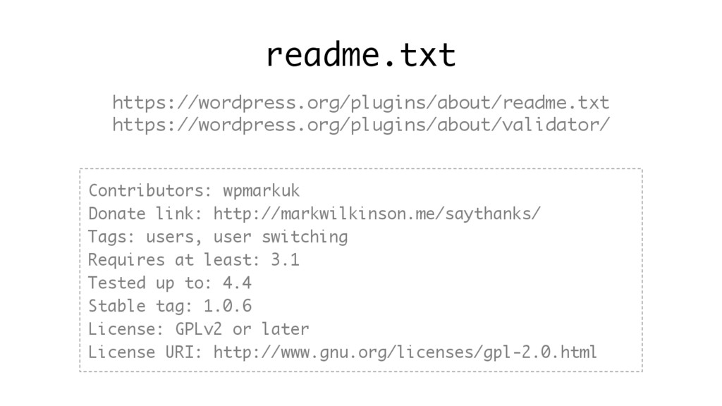 readme.txt https://wordpress.org/plugins/about/...