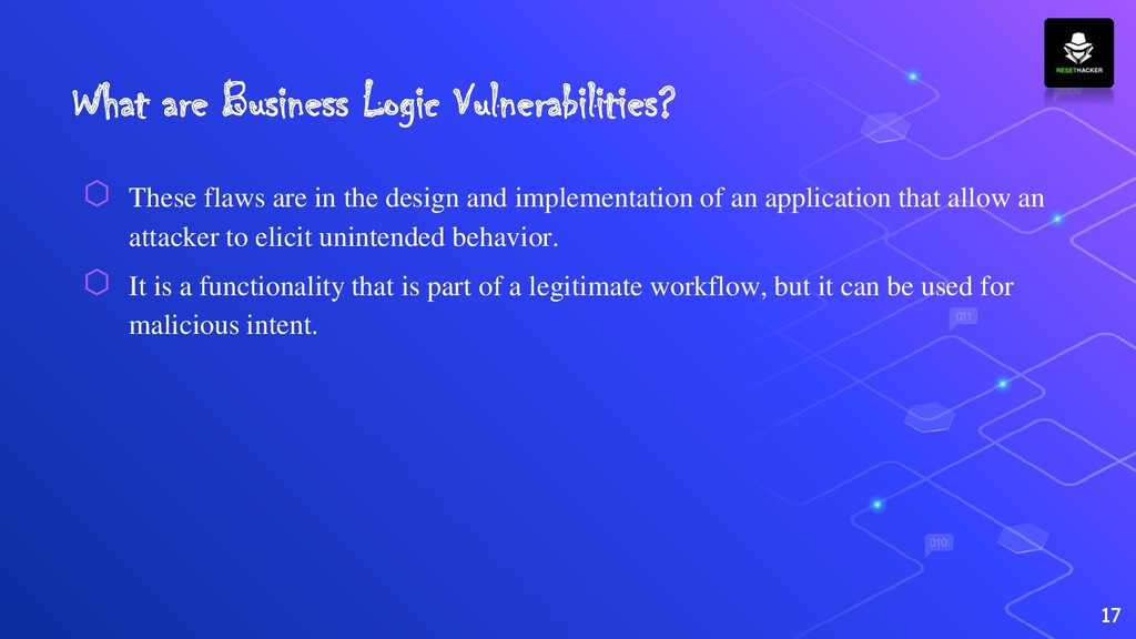 What are Business Logic Vulnerabilities? ⬡ Thes...
