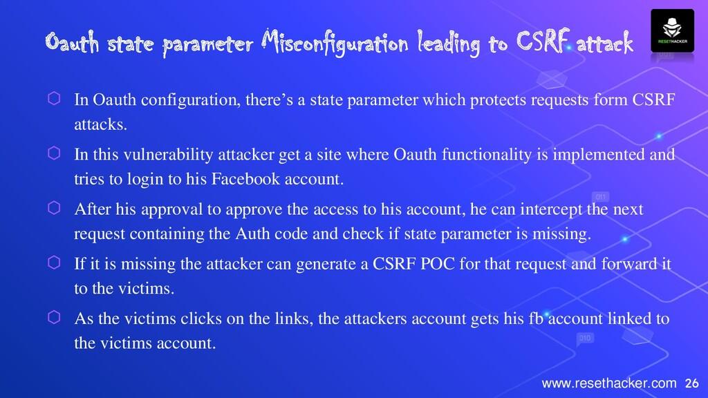 26 www.resethacker.com Oauth state parameter Mi...