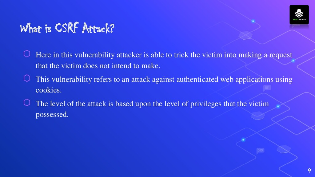 What is CSRF Attack? ⬡ Here in this vulnerabili...