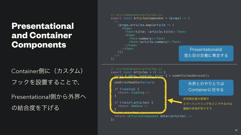 Presentational and Container Components // src/...