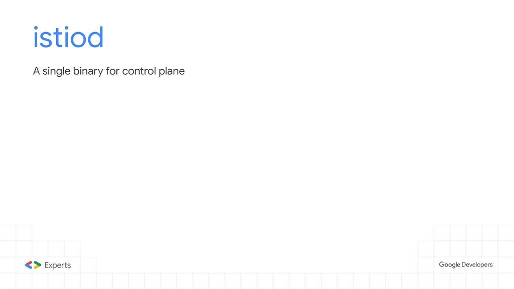 istiod A single binary for control plane