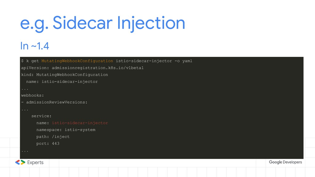 e.g. Sidecar Injection In ~1.4 $ k get Mutating...