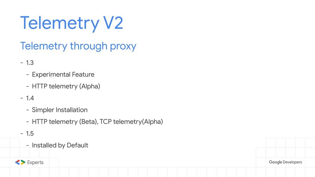 Telemetry V2 Telemetry through proxy - 1.3 - Ex...