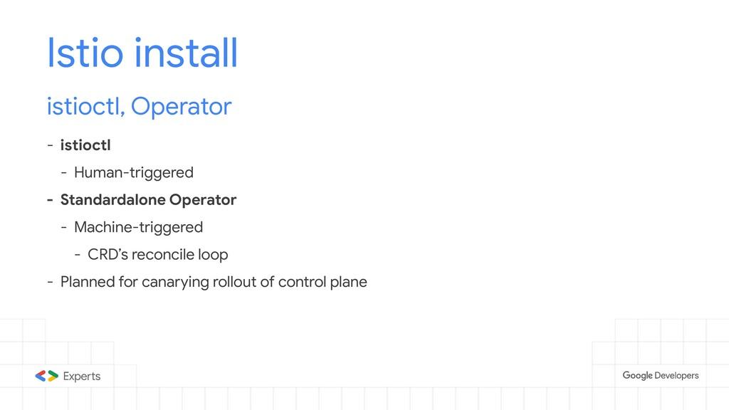 Istio install istioctl, Operator - istioctl - H...