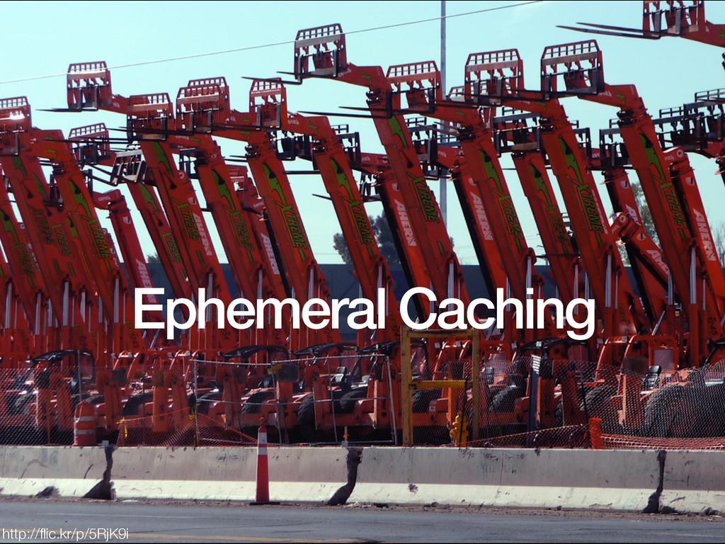 Ephemeral Caching http://flic.kr/p/5RjK9i